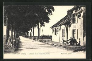 AK Buvilly, Le cafe et la route d`Arbois
