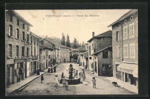 AK Virville, Place du Marche