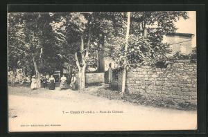AK Cazals, Place du Chateau