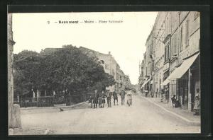 AK Beaumont, Mairie, Place Nationale