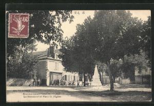 AK Razac-sur-l`Isle, Le Monument et Place de l`Eglise