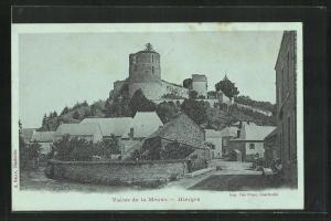 AK Hierges, Valle de la Meuse, Burg