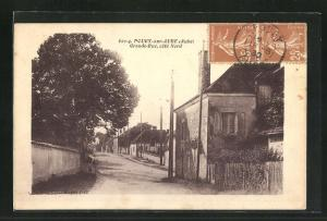 AK Pougy-sur-Aube, Grande Rue, cote Nord