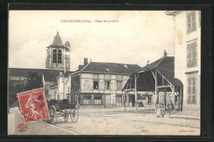 AK Chavanges, Place de la Halle
