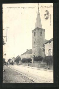 AK Combeaufontaine, l'Eglise et les Presbytere