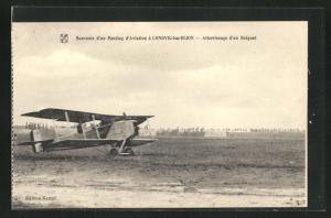 AK Longvic, Camp d`Aviation d`Ouges-Longvic, Atterisssage d`un Breguet