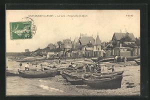 AK Crandcamp-les-Bains, La Cale, Preparatifs de dapart