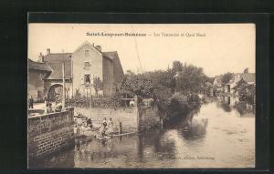 AK Saint-Loup-sur-Semouse, Les Tanneries et Quai Macè
