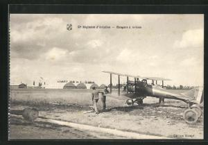 AK Longvic, Règiment d`Aviation-Hangars à Avions