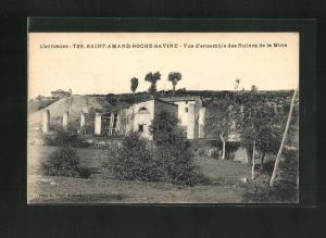AK Saint-Amand-Roche-Savine, Vue d`ensemble des Ruines de la Mine