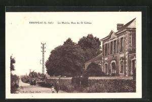 AK Dreffèac, La Mairie, Rue de St. Gildas