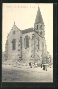 AK Epone, Bas-cotés de l`Église