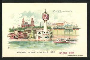 Lithographie Paris, Exposition universelle de 1900, Halt gegen das Licht