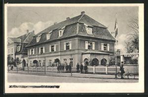 AK Heiligenbeil, Soldaten an den Fenstern eines Hauses