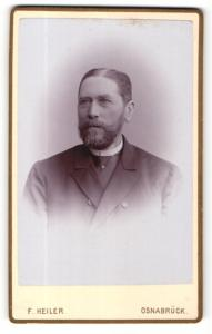 Fotografie F. Heiler, Osnabrück, Portrait älterer Herr mit Bart
