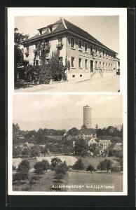 AK Allmannsdorf, Ansicht vom Gasthaus zum Adler, Blick zum Wasserturm