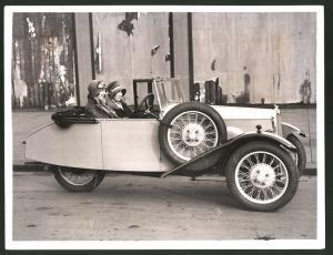 Fotografie Auto-Ausstellung London, Auto B.S.A. Baby Cycle Car