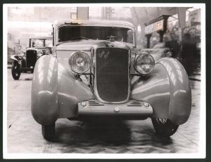 Fotografie Auto-Ausstellung London, Auto Aero Minx am Messestand