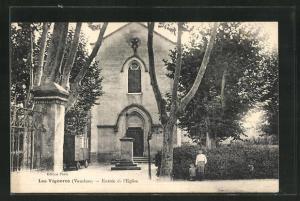 AK Les Vigneres, Entree de l`Eglise