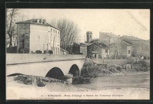 AK Sorgues, Porte d`Orange et Station des Tramways electriques