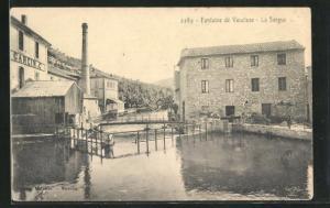 AK Fontaine de Vaucluse, La Sorgue