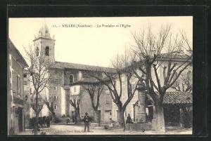AK Villes, La Fontaine et l`Eglise