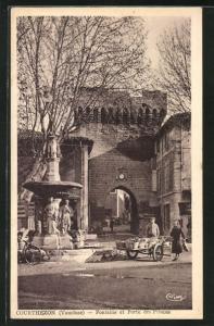 AK Courthezon, Fontaine et Porte des Princes