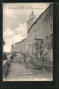 AK Grillon, Horloge et Anciens Remparts