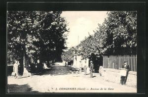 AK Congenies, Avenue de la Gare