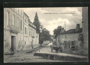 AK Sommières, Avenue Émile-Jamais, Strassenpartie