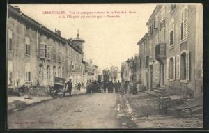 AK Gerbéviller, Vue de quelques maisons de la Rue de la Gare et de l'Hospice