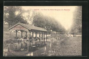 AK Lunéville, Le Canal des Petits Bosquets et la Passerelle