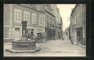 AK Saint-Pierre-le-Moutier, Place et Rue de la Fontaine