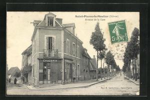 AK Saint-Pierre-le-Moutier, Avenue de la Gare