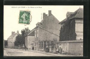 AK Suilly-La-Tour, La mairie et la Place