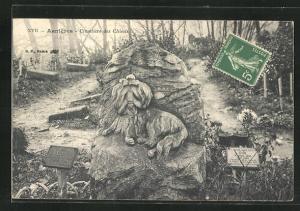 AK Asnieres, Cimetiere des Chiens, Grabstelle auf Hundefriedhof