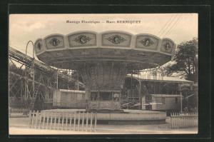 AK Manège Electrique - Marc Berniquet, Karussell, Jahrmarkt, Kirmes, Volksfest