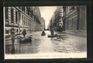 AK Paris, Inondations 1910, La Rue de Lille, Hochwasser