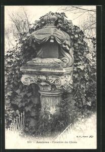 AK Asnières, Cimetière des Chiens / Hundefriedhof, Grabstelle