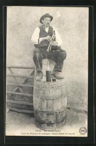 AK Le Cabrettaire, Type de Musicien du campagne... Sackpfeifenspieler