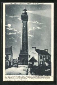 AK Saint-Guénolé-Penmarc`h, Le Phare dEckmühl..., Leuchtturm