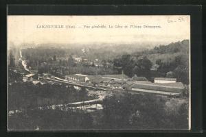 AK Laigneville, Vue generale, La Gare et l`Usine Desnoyers