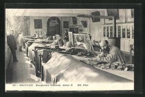AK Beauvais, Manufacture Nationale, Atelier B., Innenansicht