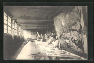 AK Beauvais, Manufacture Nationale, Un Atelier, Innenansicht