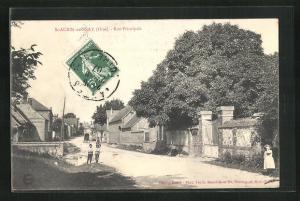 AK St-Aubin-en-Bray, Rue Principale, Strassenpartie
