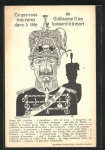 AK Ce que vous trouverez dans la tete de Guillaume II en hussard de la mort, Metamorphose