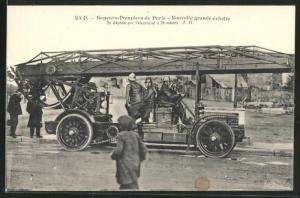 AK Paris, Sapeurs-Pompiers, Nouvelle grande echelle, Feuerwehr