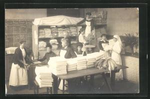 AK Arbeiterinnen in der Wäscherei