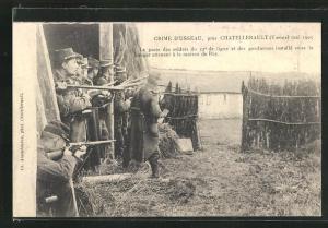 AK Chatellerault, Crime d`Usseau, Mai 1905, Le poste des soldats