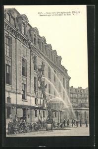 AK Paris, Sapeurs-Pompiers, Sauvetage et attaque du feu, Feuerwehr bekämpft einen Brand